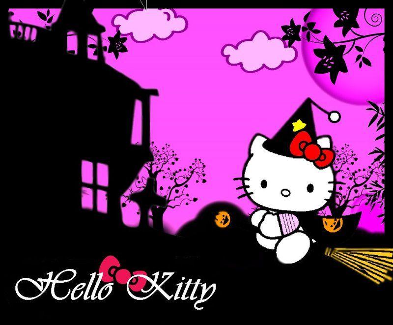 Hello kitty halloween wallpapers halloween kitty by night love art hello kitty pinterest - Hello kitty halloween ...