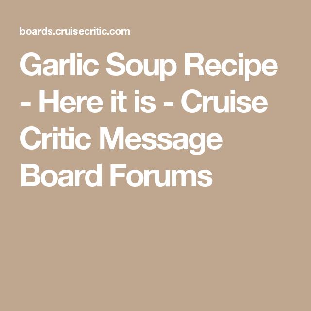 critic boards Cruise message