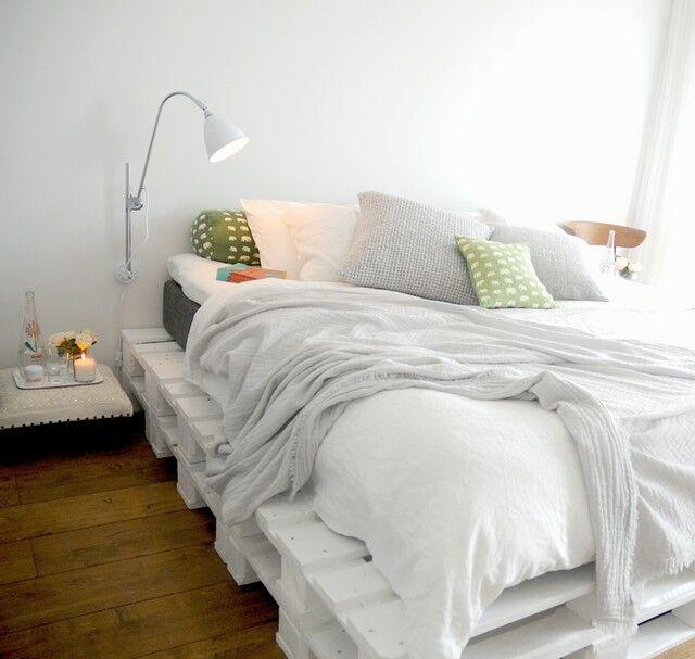 Somier con palés Quarto casal Pinterest Somier, Palés y Camas - camas con tarimas