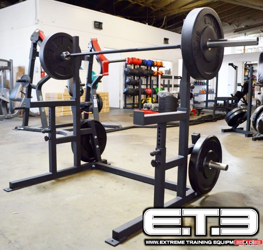 Squat Rack With Safety Spotter Arms Squat Stands