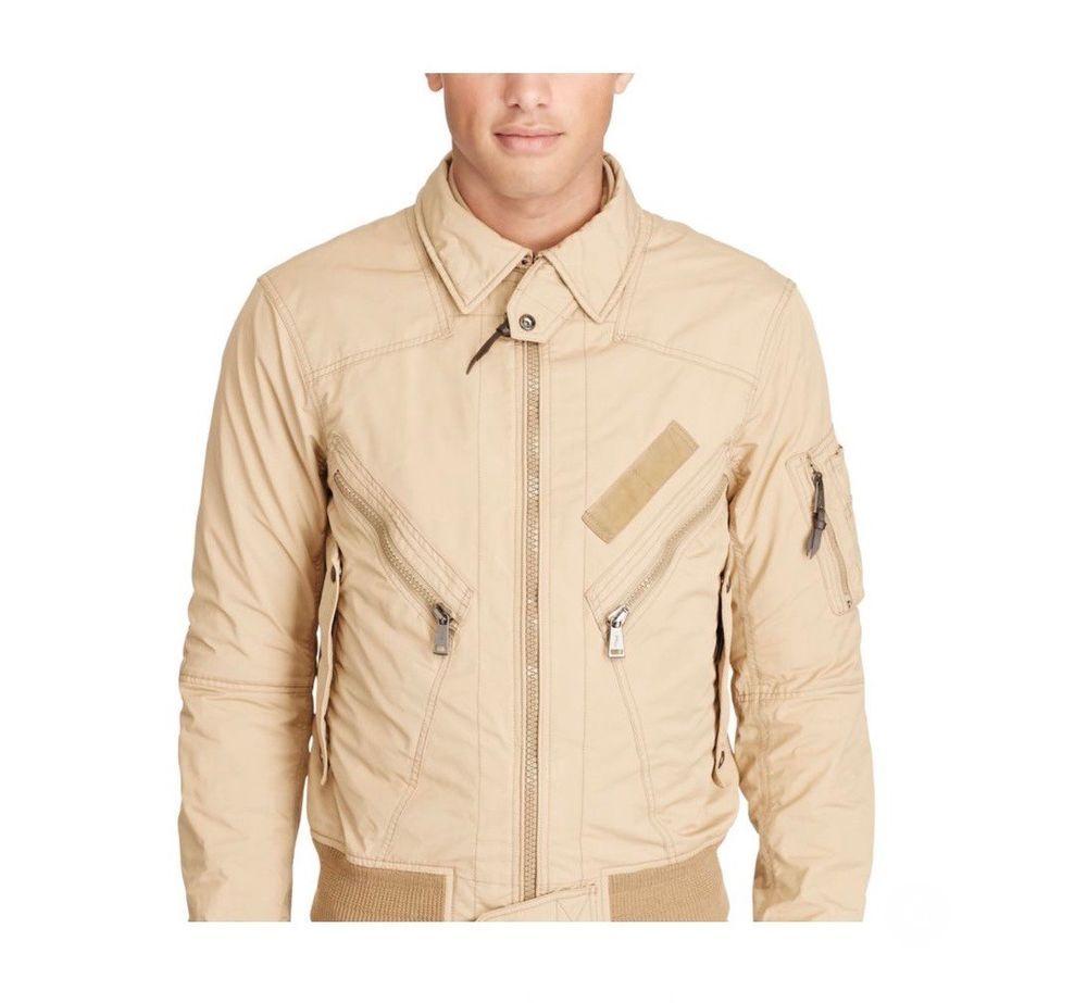 Polo Ralph Lauren Water Repellent Bomber Jacket Khaki Coat Mens Size Large Nwt Poloralphlauren Flightbomber Orkestr [ 923 x 1000 Pixel ]
