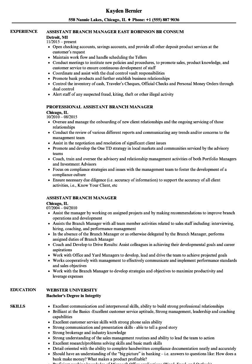 sample resume for bank jobs with no experience pdf