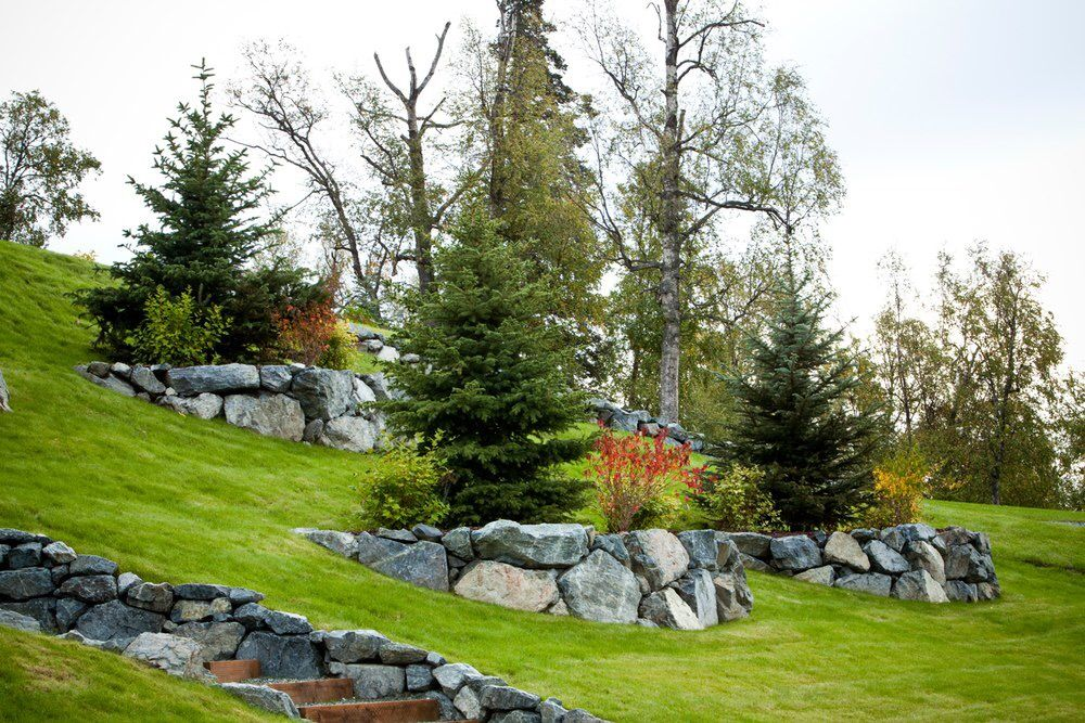 склон с камнями в ландшафтном дизайне фото межкомнатные двери