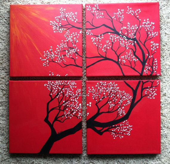 love these multiple canvas paintings pin for