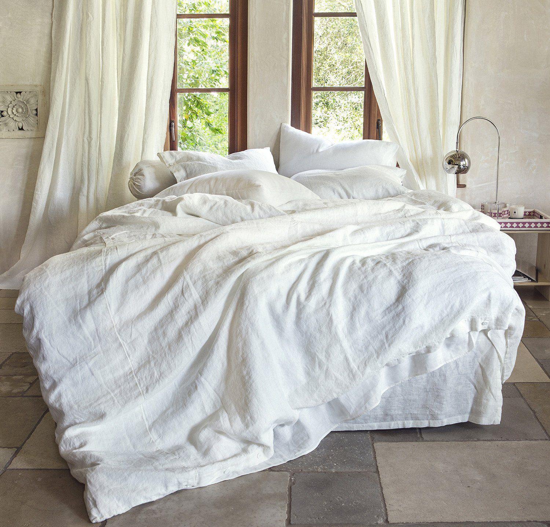 Orkney Linen Bed Skirt Bed linens luxury, Bed linen sets