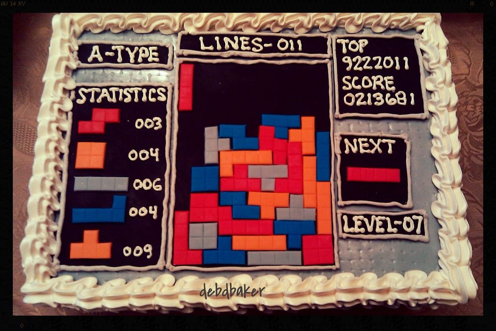 Tetris Cake Nintendo Pinterest Cake - Tetris birthday cake