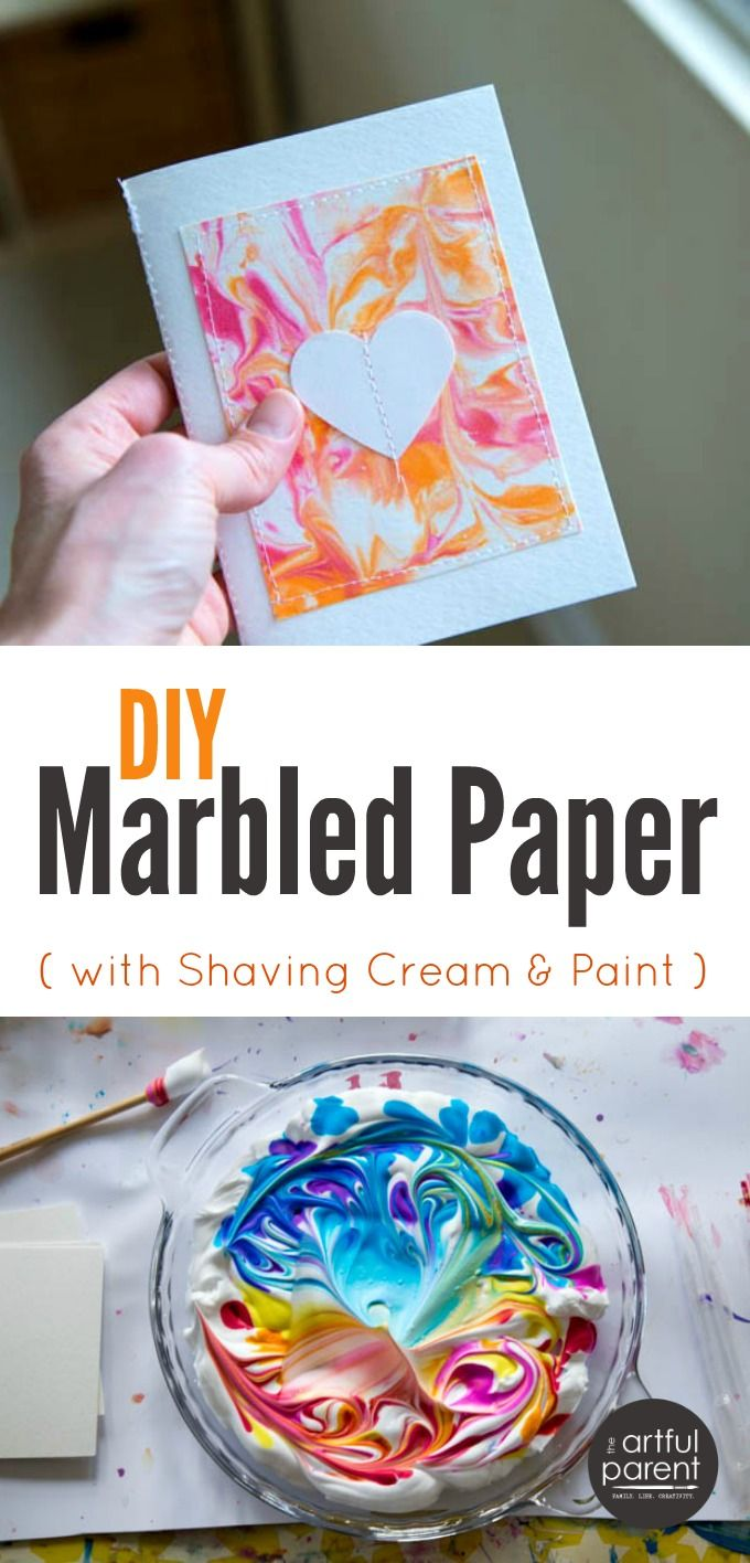 Paper Craft Ideas For Kids Videos Part - 38: DIY Marbled Paper - The Best, Easiest, U0026 Cheapest Method Step-by-Step
