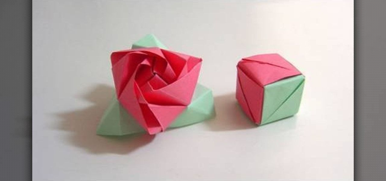 How To Fold A Magic Rose Cubea Flower In A Box Origami Puzzle