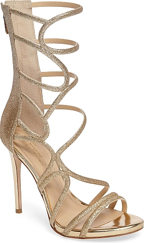 6e3f9bc93b95 Imagine by Vince Camuto Women s Shoes in Champagne Color. Curvy straps loop  and wind their way up the extended shaft of a dramatic