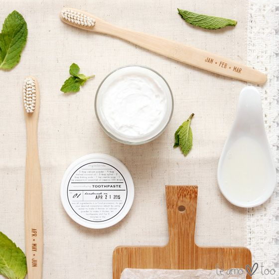 DIY all natural remineralizing toothpaste | Te Amo Too