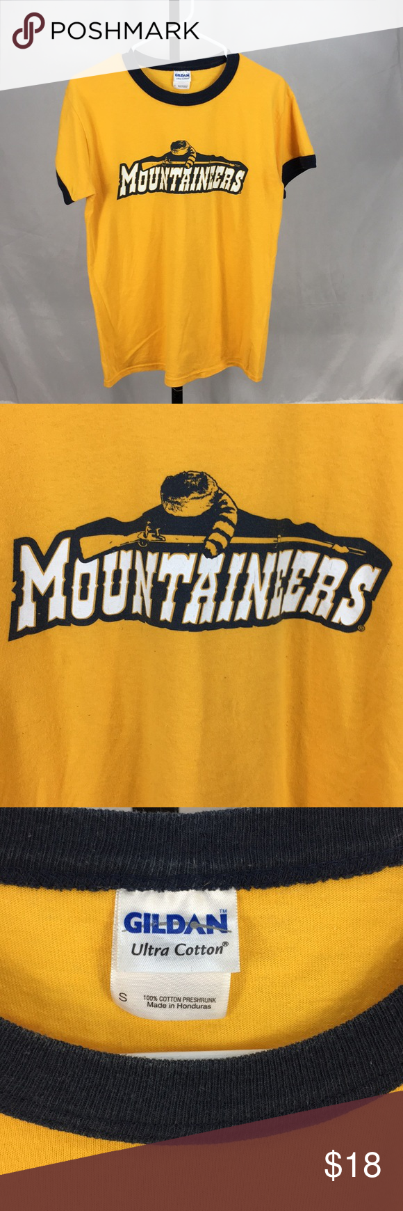 VINTAGE WVU MOUNTAINEERS T-SHIRT SMALL Vintage West Virginia University Mountaineers T-Shirt. Size SMALL. Gildan Shirts Tees - Short Sleeve #wvumountaineers