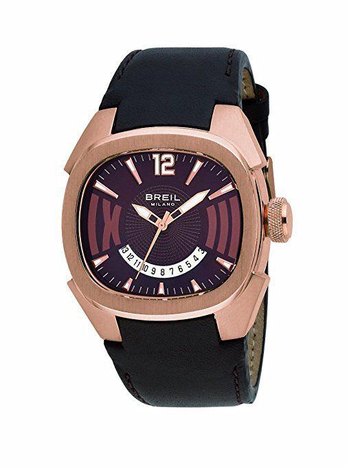 eb9252c8500d Breil BW0312 - Reloj analógico de caballero de cuarzo con correa de piel  marrón - sumergible a 100 metros