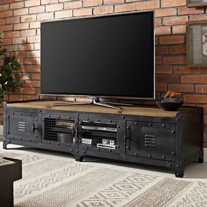 Maisie Tv Stand For Tvs Up To 75 Industrial Design Furniture Modern Industrial Furniture Industrial Furniture