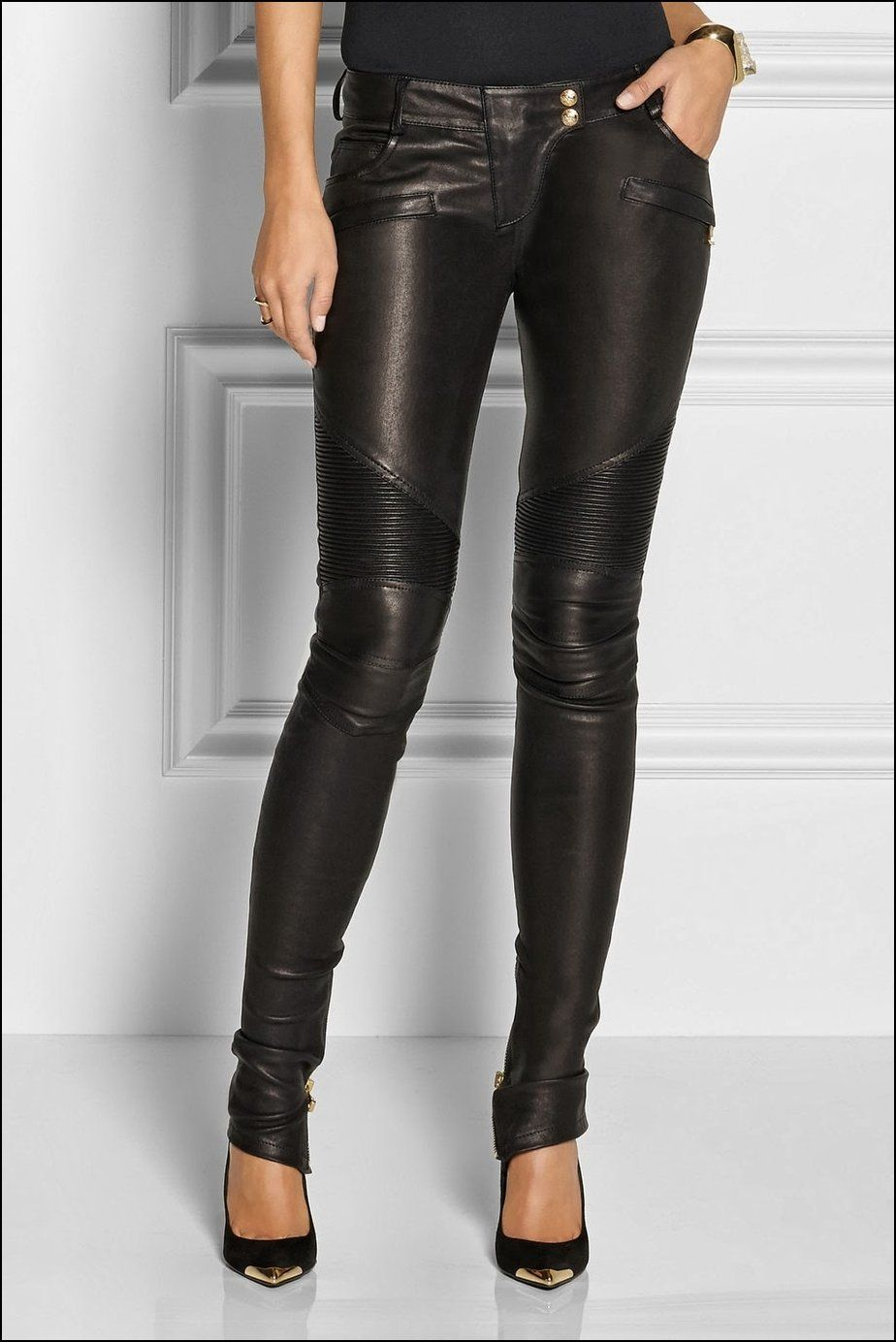 Amazing Black Leather Pants For Women Womensleatherpantsfashion