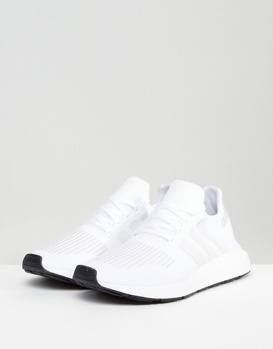 62da3fce59c9f adidas Originals Swift Run Sneakers In White CG4112 - White