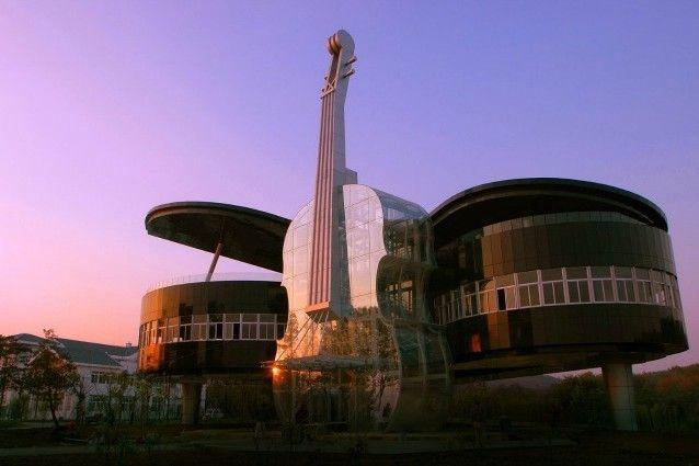 Piano e Violin Building, a Huainan City, in Cina