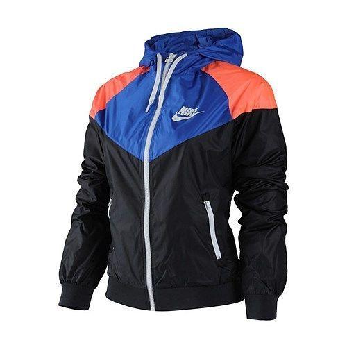 a95efa46691f Nike WindRunner Women s Jacket Windbreaker Hoodie Blue Black Orange  545909-017  Nike  Windrunner