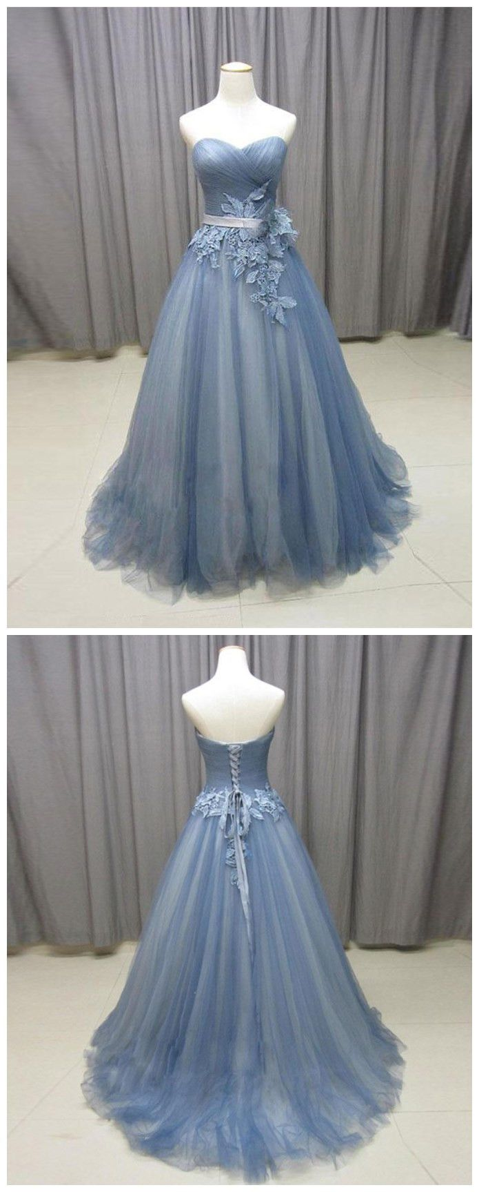 chic aline prom dresses sweetheart tulle long prom dress