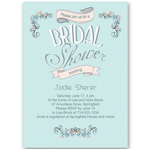 Bridal Shower Invitations Wedding Pinterest Bridal Shower