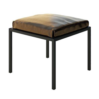 Outstanding Everly Quinn Ahumada Glamorous Leather Vanity Stool Color Alphanode Cool Chair Designs And Ideas Alphanodeonline