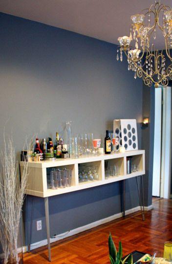 Ikea Bookcase Turned Bar