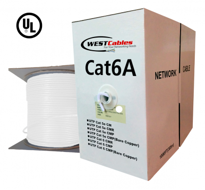 1000FT Cat6A Riser CMR Solid Copper UL Listed Network