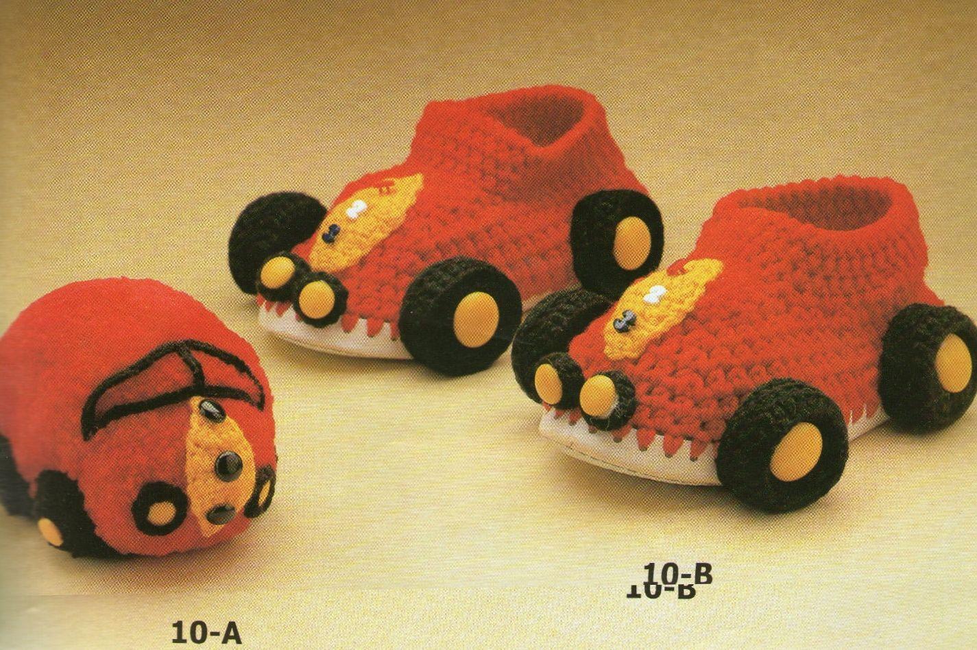 Pantufla para niño de coche