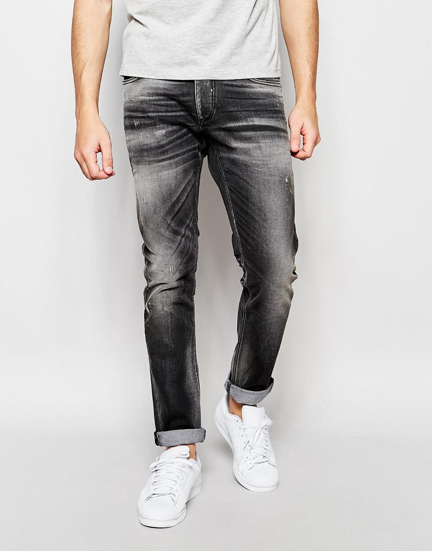 e760e93e Jack+&+Jones+Slim+Fit+Jeans+with+Rips   wash reference   Denim jeans ...