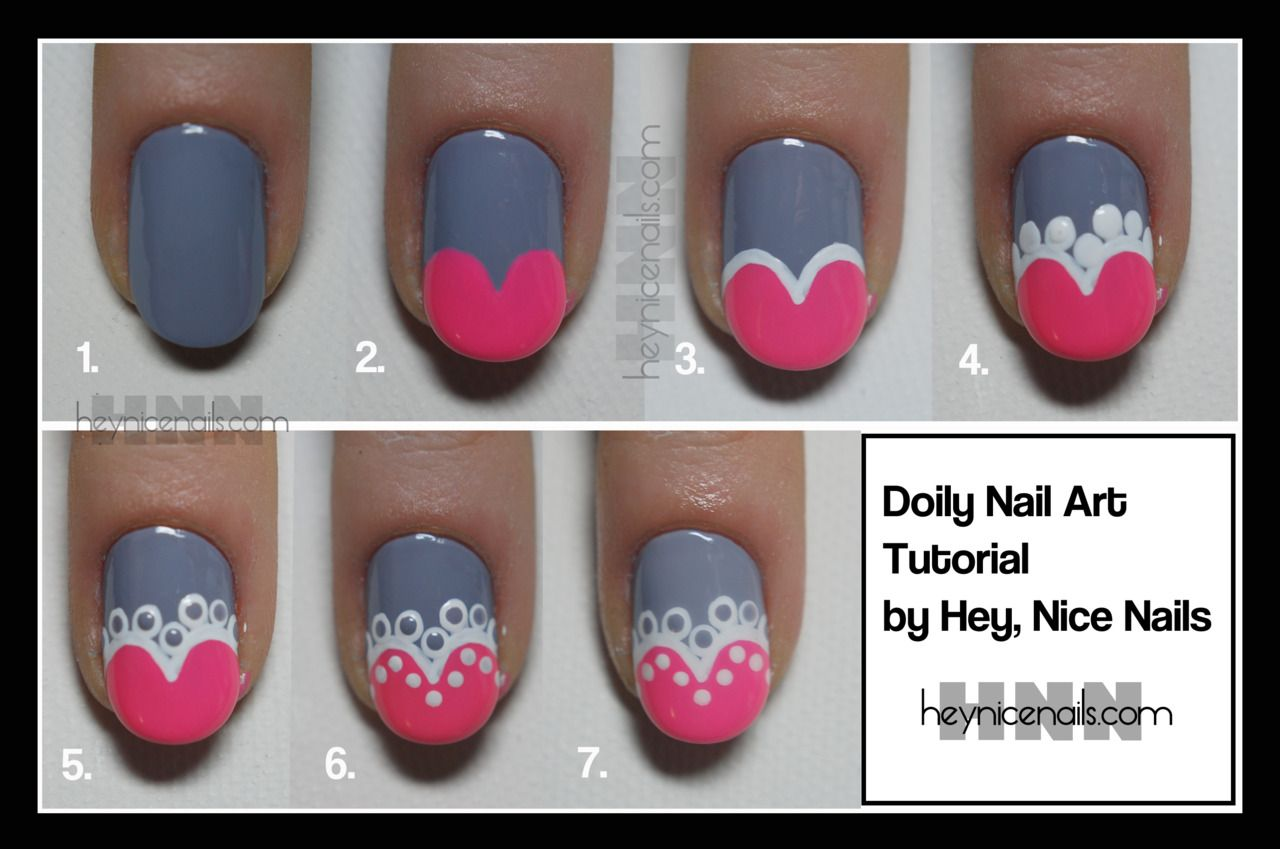 Doily Nail Art Tutorial by Hey, Nice Nails We were originally going ...
