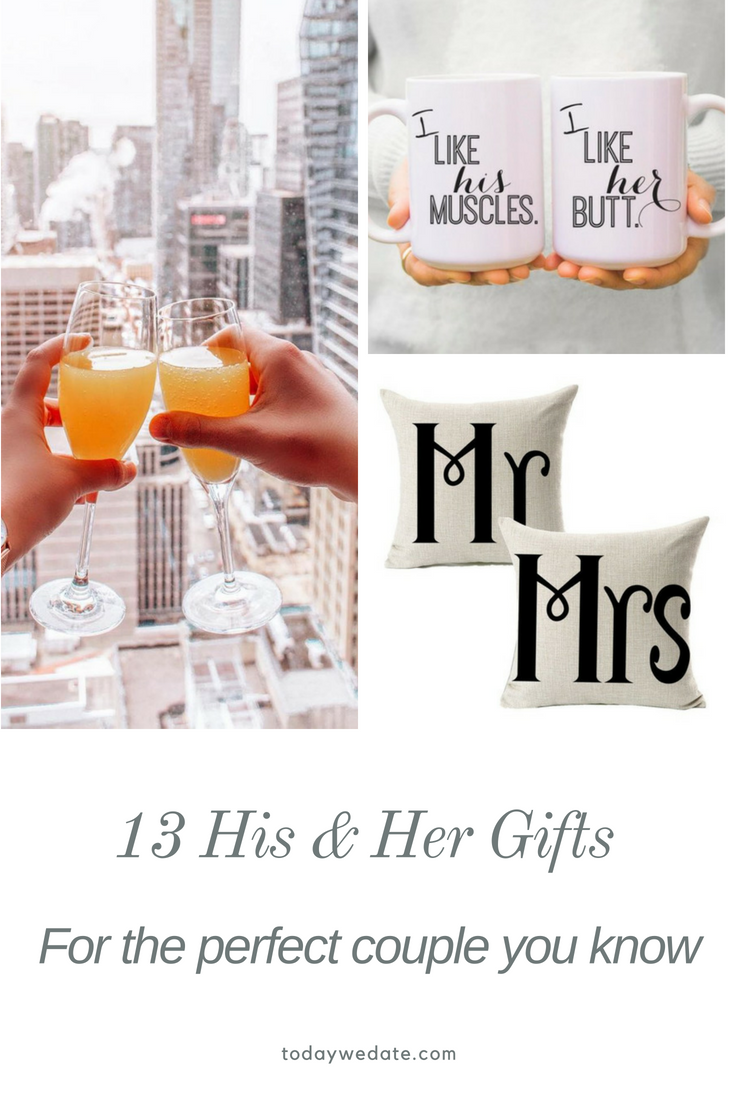 13 unique matching couple gift ideas for you and your bae | wedding