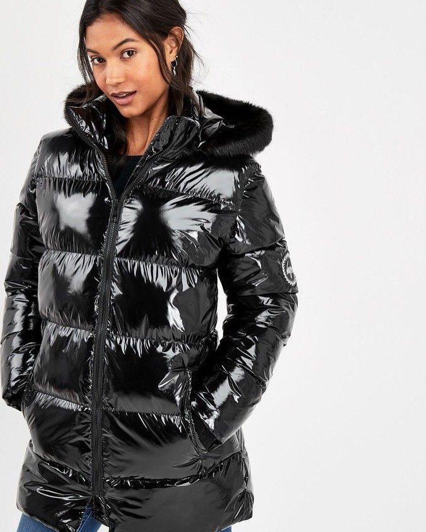 IKRUSH Womens Olga Padded Faux Fur Hood Puffer Jacket