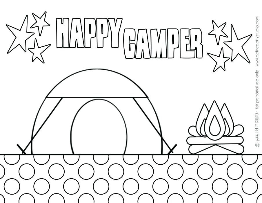Camping Coloring Page For The Kids Summer Coloring Pages