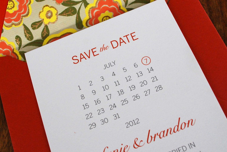 Unique-wedding-save-the-dates-calendar-design-invitations-on-etsy ...