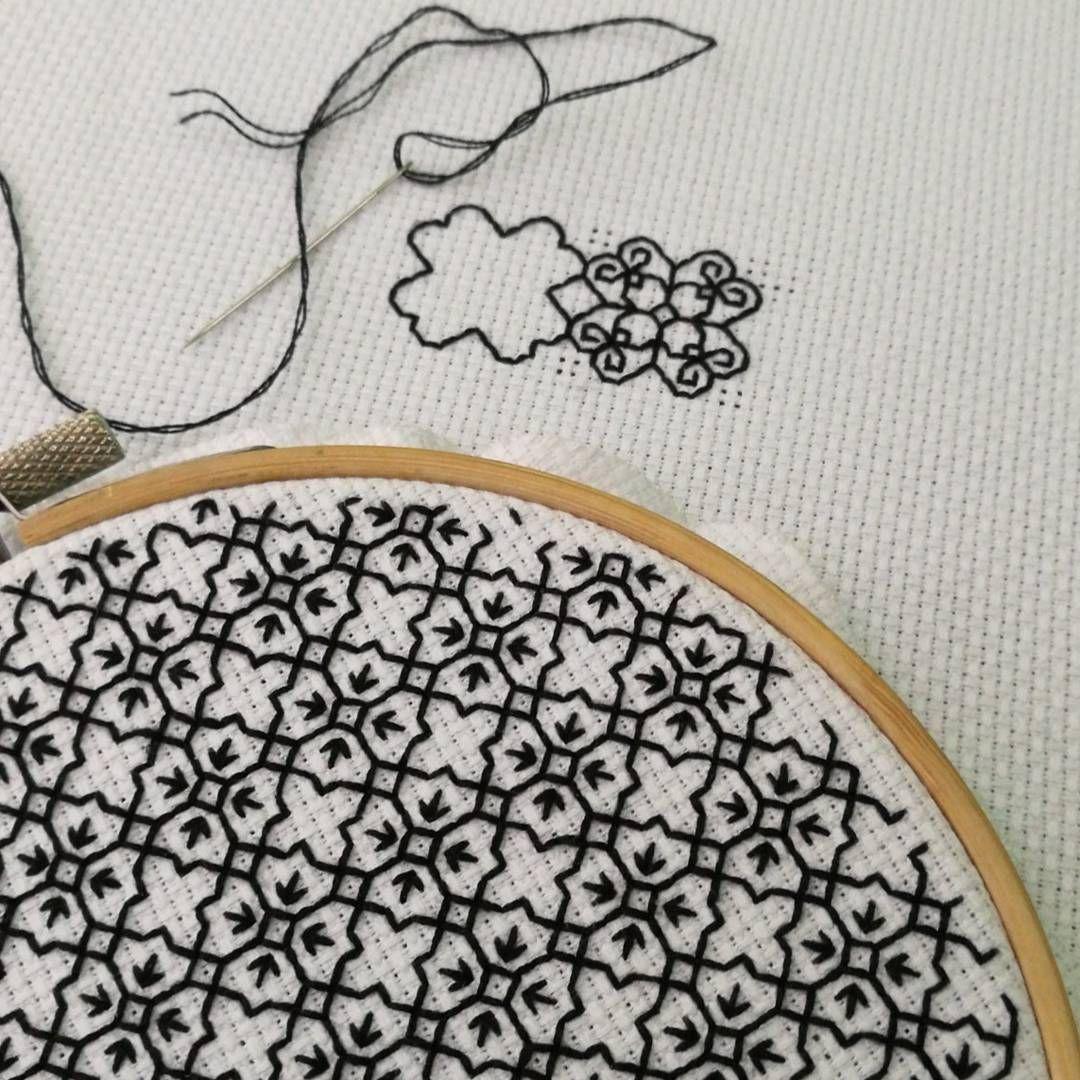 Blackwork, something a little different. | Drapeados | Pinterest ...