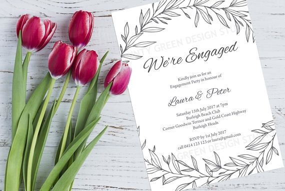 Engagement Invite Templates Mesmerizing Engagement Invitation Template Editable Text Instant  Engagement .