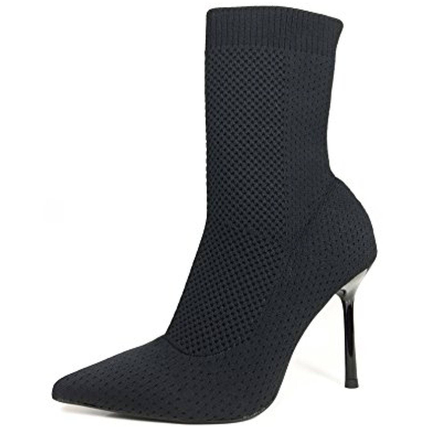Women Stretch fabric high heel ankle boots 7148/201