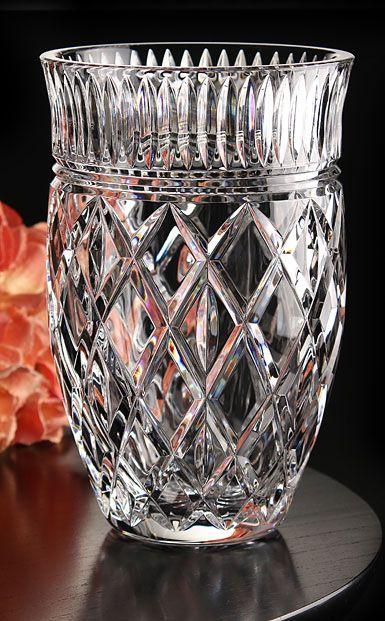 Waterford Crystal Eastbridge 8 Crystal Vase Crystal Vase Crystal Glassware Geometric Vases
