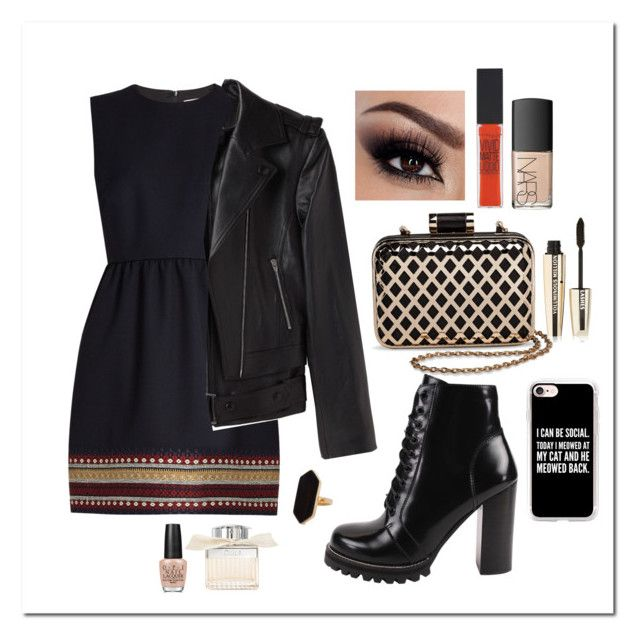"""""""made myself at home"""" by emilyxcourtney ❤ liked on Polyvore featuring RED Valentino, Alexander Wang, Jeffrey Campbell, Tevolio, Casetify, Jaeger, Maybelline, NARS Cosmetics, L'Oréal Paris and Chloé"""