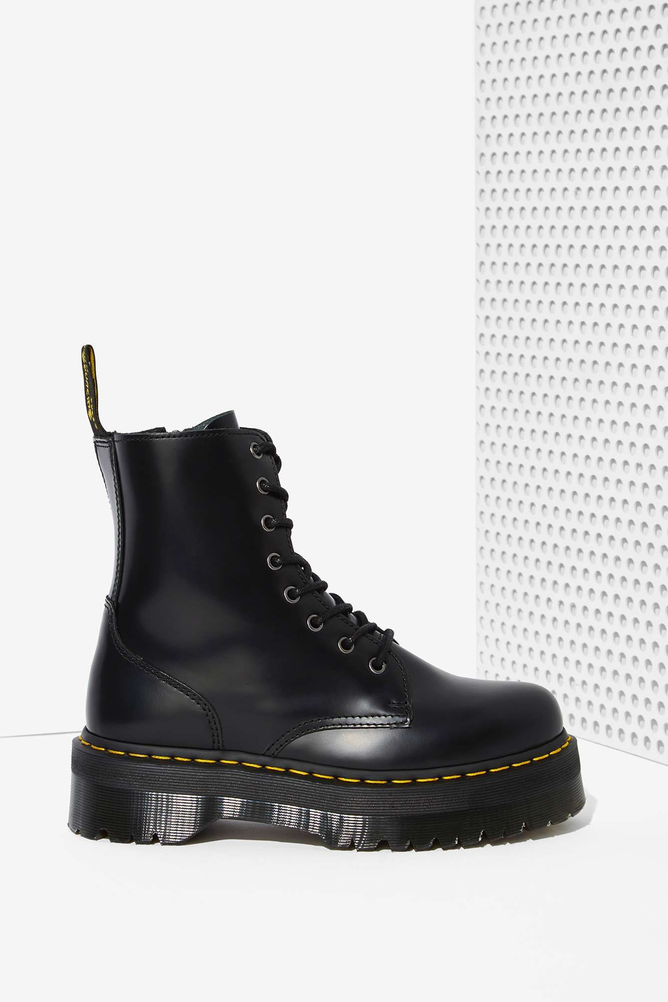 5fbf66a994cb Shop all women s shoes at Nasty Gal. Like eating glass. Dr. Martens Jadon  8-Eye Leather Boot