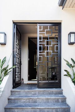Caulfield House Contemporary Entry Melbourne White Chalk