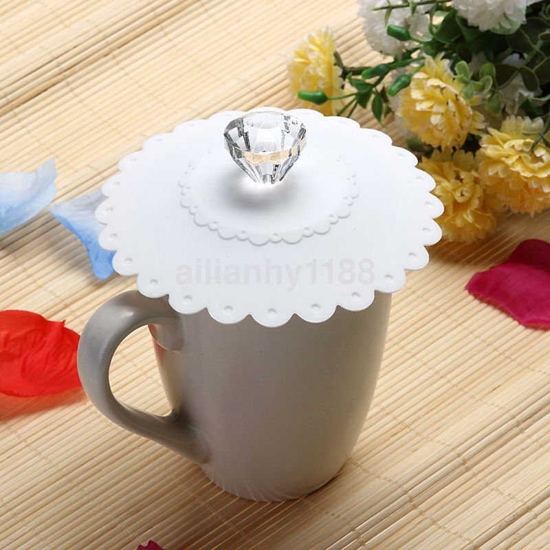 1pc Silicone Leakproof Coffee Mug Suction Lid Cap Airtight Sealed Cup Cover Nice
