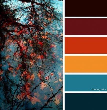 Wedding fall colors orange blues 44 Ideas #fallcolors