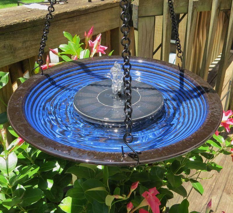 Solar Hanging Bird Bath Solar Fountain Solar Bird Bath Solar Powered Fountain Pump