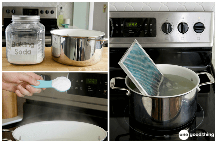 This Is The Easiest Way To Clean Your Range Hood Filter Range Hood Filters Clean Stove Cooker Hood Filters