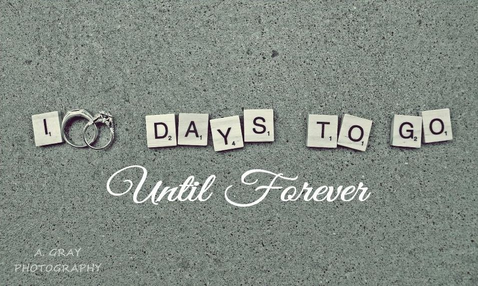 100 Days Till Wedding Countdown Sign Banner 100 Days To Go Yes