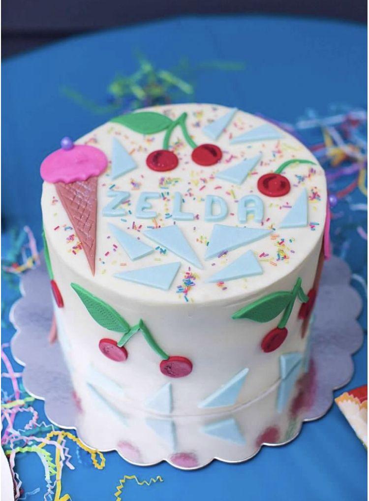 Cherry birthday party cake birthday party cake cake