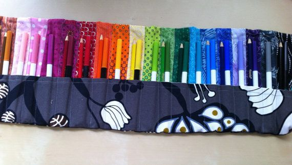 """I heart these hand-made """"Marker Rolls"""" by the creative and inventive seamstress-goddess Aaron Wine of Sew Seamless! A fun gift for a child of any age... a great way for kids to practice color matching while they're being creative. Get yours on her etsy site."""