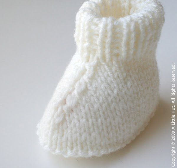 baby booties knitting patterns free | ... patterns for baby booties ...