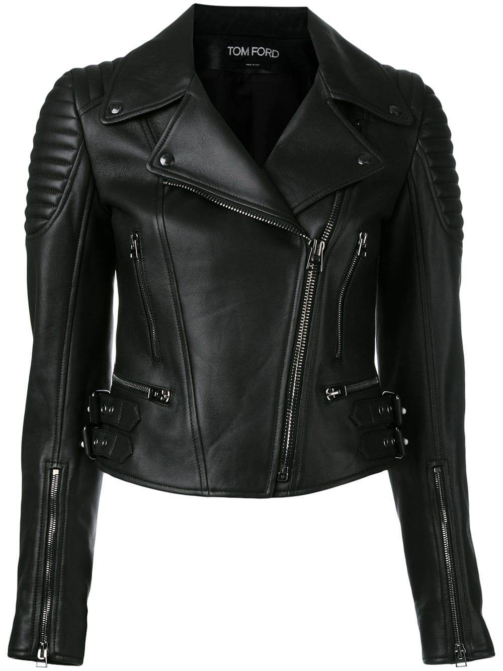 84f5466304dc Tom Ford zipped biker jacket - Black in 2019 | Products | Womens ...
