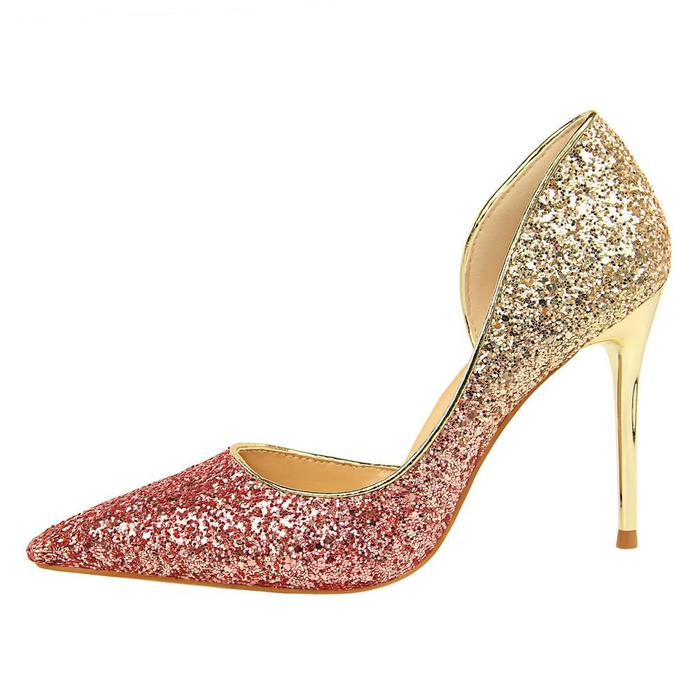 5c2e042f98 Woman 9cm Glitter High Heels Sequins Scarpins Pumps Female Silver Gold Lady  Party Wedding Scarpins Talons Shoes #womens #dresses #womensclothing  #swimsuits ...